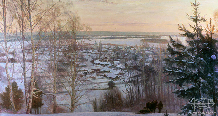 Wedernikow Boris - Winter in Russian Village